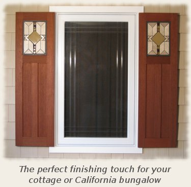 Arts crafts style shutters for Arts and crafts exterior shutters