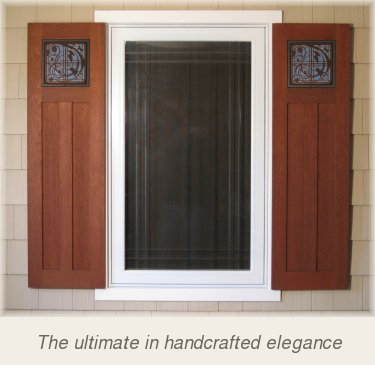 Motawi arts crafts style shutters for Spanish style interior shutters